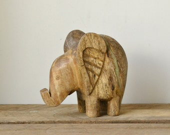 Hand Carved Mango Wood Elephant