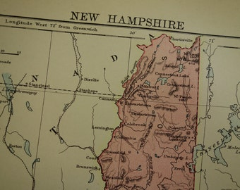 Manchester Nh Poster Etsy - Manchester new hampshire map