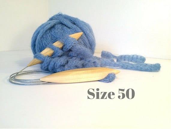 US Size 50 25mm Jumbo SQUARE CIRCULAR Knitting Needles are