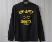 Hufflepuff Quidditch Harry Potter Shirt Sweatshirt Sweater Shirt – Size XS S M L XL