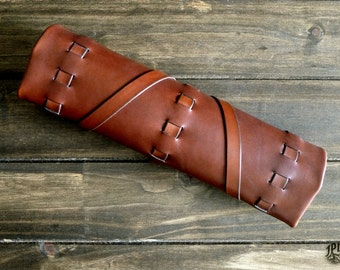 Leather Tool Roll - Rugged Leather Tool Bag - Leather Tool Case - Custom Tool Wrap - Woodworker - Groomsmen - Mechanic