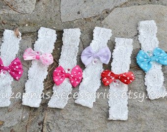 You color headband, baby headbands, toddler headband, toddler bow, baby bow headband, lace bow headband, hair bow, girls bow, heart headband