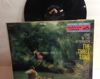 Love In The Afternoon The Three Suns Vintage Vinyl Record Album lp 1959 Mood Music RCA Victor Records LPM-1669