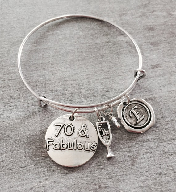 Fab At 70: 70 And Fabulous 70th Birthday Birthday Charm Silver