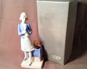 1980s Tupperware Lady Figurine with Original Box - Gift for Salesperson