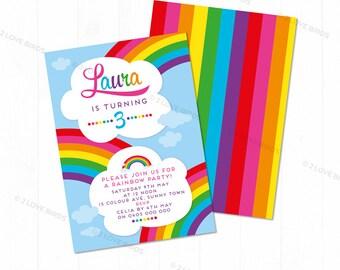 Rainbow Printable Invitation