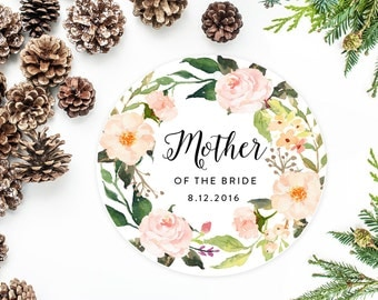 Mother Of The Bride Gift, Personalized Ornament with Watercolor Flowers