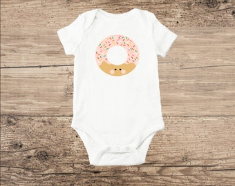 Donut Baby Clothes, Pink Donut with Sprinkles