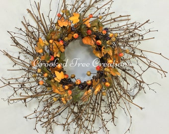 Fall Wreath, Pumpkin Wreath, Harvest Wreath, Fall Door Décor, Autumn Wreath, Fall Floral, Autumn Decor, Rustic Wreath, Fall Wreaths, Fall