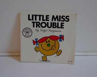 Vintage Little Miss Trouble by Roger Hargreaves Classic Children's Book 80s 90s Little Miss Books Series