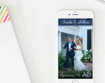 Nautical Wedding Snapchat Geofilter File