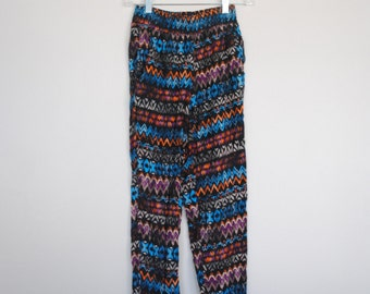 Geometric Tapered Harem Pants - Size Small