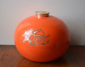 Vintage 1960s Dubonnet Icebucket, orange