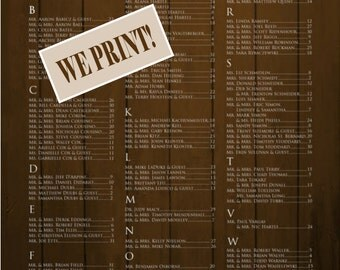Wedding Seating Chart Sign//Rustic Barnwood Confetti Polka Dot Wedding Seating Chart/Country Wedding/Printed or Digital/Item-RW-0016