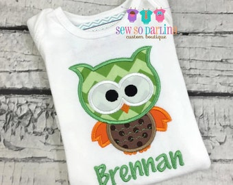 Baby Boy Owl Outfit - Boy Owl Shirt - Baby Boy Woodland outfit - Baby Boy Clothes - Personalized baby clothes