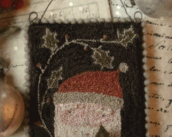 Pattern: Punch Needle Father Christmas - With Thy Needle and Thread - Country Stitches - Brenda Gervais