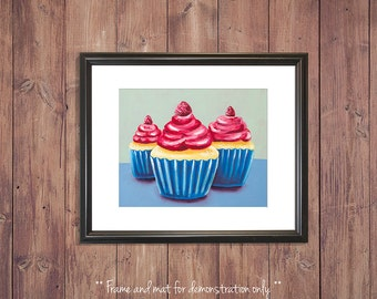 Cupcake Print from Original Oil Painting