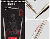 US 3 (3.25mm) Chiaogoo Red Lace Circulars - Choice of Length