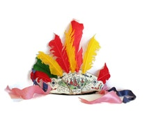 CLEARANCE  Indian Headdress Souviner Toy, Great Smokey Mountains