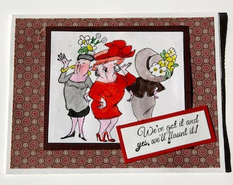 handmade humorous girlfriends greeting card