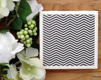 Coasters - Drink Coasters - Tile Coasters - Ceramic Coasters - Black and White Coasters - Ceramic Tile Coasters - Coaster Set