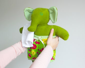 Unique elephant soft doll with clothes -Stuffed elephant -Soft toy for boy and girl -Plush doll -Fred the O'Fantie -Stuffed animal