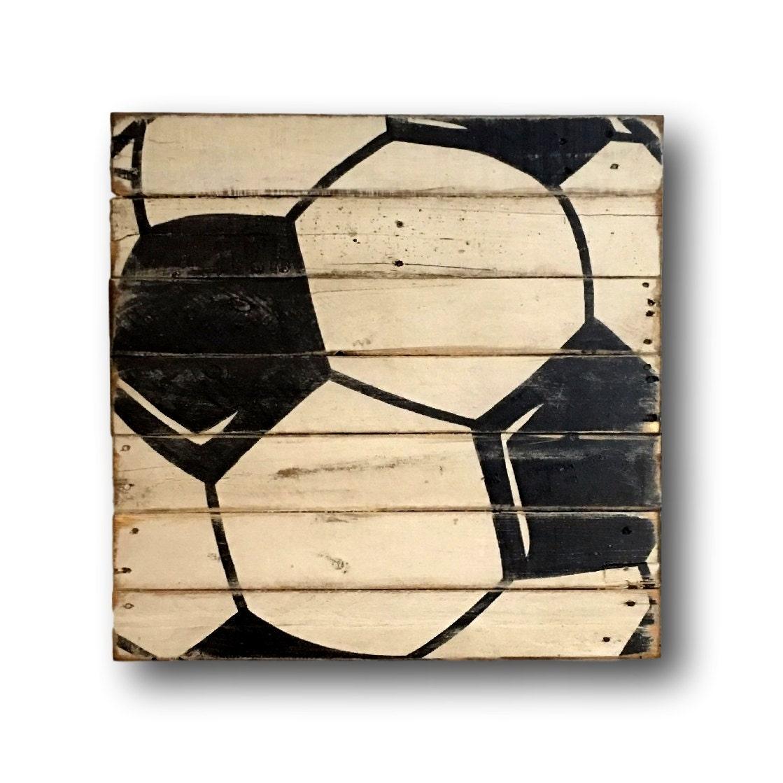 sports decor for boys room soccer ball sign sports banquet. Black Bedroom Furniture Sets. Home Design Ideas