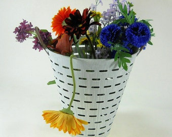 Old Timey Olive Bucket Pail Harvest Container Basket