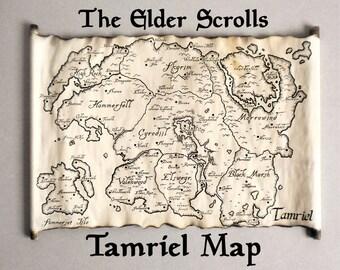 Tamriel Map, Skyrim Map, TES Map, The Tamriel Empire Map, Elder Scrolls, Morrowind Map Oblivion Map Fantasy Map, Cyrodiil Map, Skyrim Art