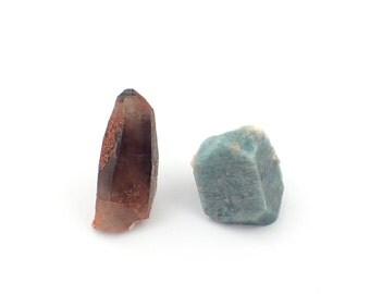 Smoky Quartz and Amazonite from Colorado - 24-32mm (F8310)