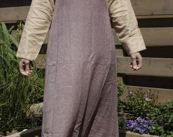 Viking overdress/hangerock/pini red/purple, wool