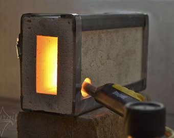 One Brick Forge: Small Blacksmith Propane Forge Fire Brick - Mini Gas Forge for blacksmith forging knives, axe, hooks, bottle openers, tongs