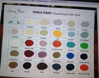 Annie Sloan Chalk Paint --  Several colors are available --  4 oz. container-- ASCP-  Awesome paint!