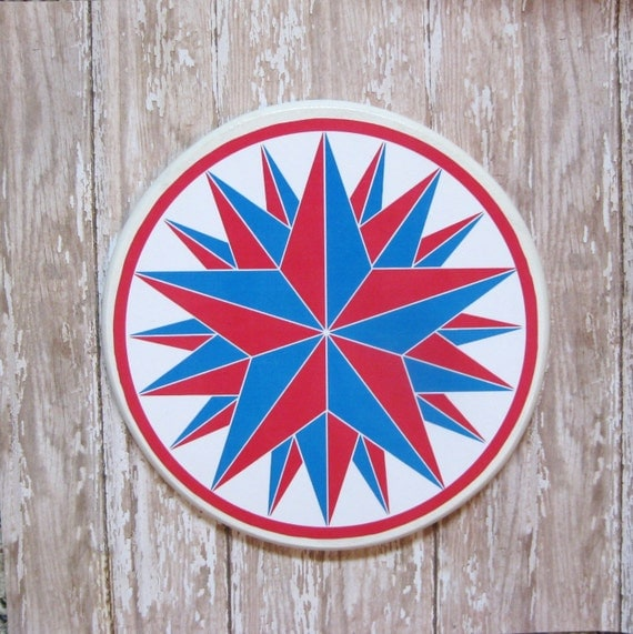 Blue Star Wall Decor : Lucky star wall art plaque decor wood by