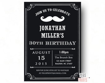 adultes de surprise anniversaire invitation par pegsprints. Black Bedroom Furniture Sets. Home Design Ideas