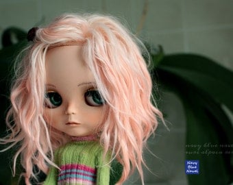 CUSTOM Reroot BLYTHE SCALP: 50% payment suri alpaca locks + CoolCat scalp, commission reservation listing - read description please!