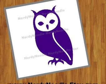 Owl Decal, Owl Car Decal, Owl Sticker, Owl Laptop Decal, Owl Cup Decal, Owl Tumbler Decal, Bird Decal - You choose size and color