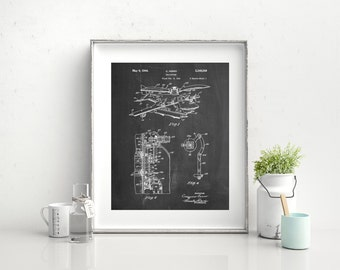Early Helicopter Patent Poster, Helicopter Decor, Aviation Decor, Airplane Nursery, Aviation Wall Art, PP0500