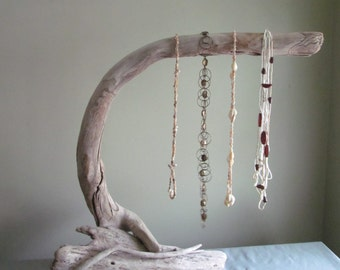 Driftwood Necklace Display, Driftwood Boutique Display,  Driftwood Jewelry Display, Photography Prop, Wood Jewelry Display, Necklace Holder