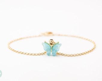 Butterfly charm bracelet, butterfly charm, gold bracelet,charm bracelet, gold chain bracelet, cute bracelet, friendship bracelet, gold chain