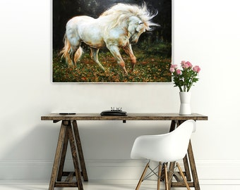 Horse,  23.6 x 28.7 inch (original painting) Free shipping