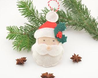 Felt Santa, Christmas decoration, Christmas tree decoration, handmade, felt toy, Christmas ornament, tree ornament, felt ornament, handmade