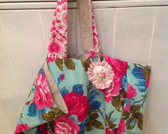 Linen bag and fabrics Jennifer Paganelli and Tanya Whelan.