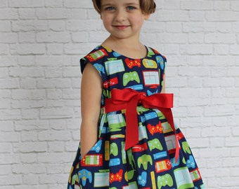 Size 4-Ready to Ship-Gamer Dress, Dress with Pockets