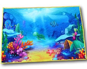 Ocean Baby Quilt * Sea Baby Blanket * Beach Nursery* Ocean Nursery *  Finding Nemo * Ocean Bedding * Beach Baby * Ocean Quilt * Finding Dory