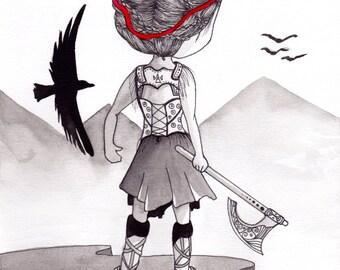 Ana Dess in Viking - Illustration
