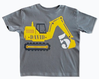 Construction birthday shirt, Digger birthday shirt, Excavator birthday shirt, Construction invites, Construction party, Boys birthday shirt