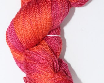 Hand dyed Sock yarn - Superwash Merino Bamboo blend 80/20 - 4 oz hank in Ecru