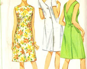 Simplicity 7079 Misses' One-Piece Back-Wrap Dress Sewing Pattern