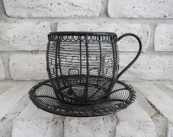 Vintage Tea Cup Planter - Patio Decor - Plant Holder - Home Decor - Garden